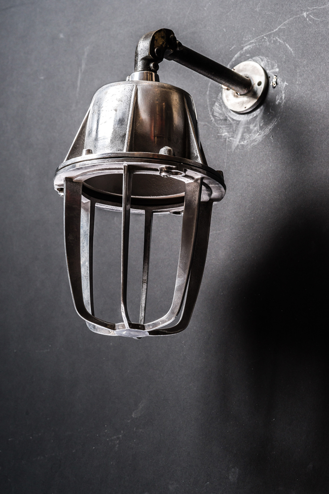 Caged Aluminium Wall Light