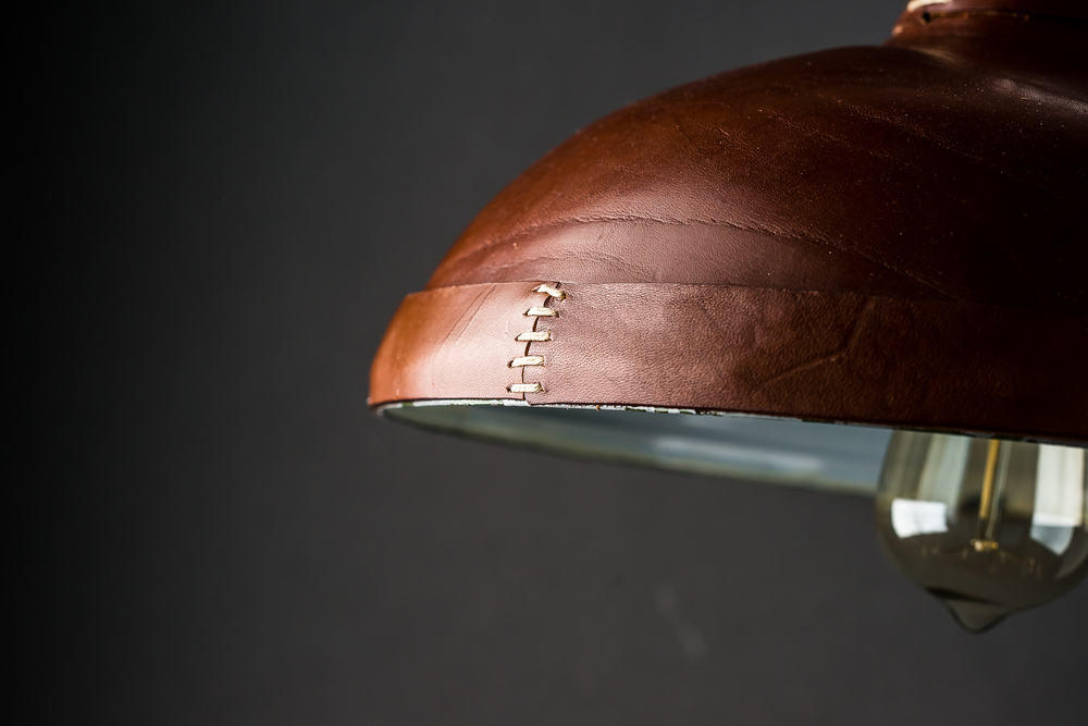Hand Moulded and Stitched Leather Pendant02.jpg