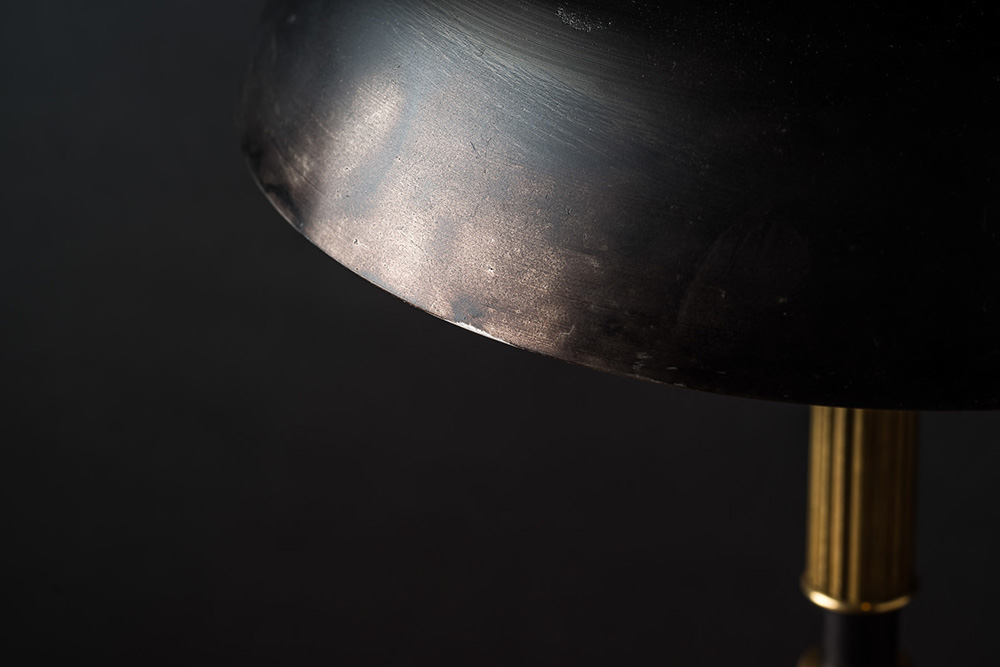 Handmade Blackened Steel and Brass Table Lamp 01.jpg