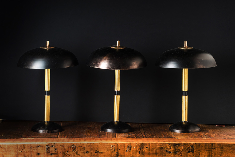 Handmade Blackened Steel and Brass Table Lamp 02.jpg