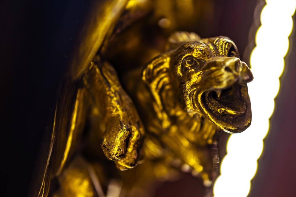Antique Brass Griffin Converted LED Desk Lamp 04.jpg