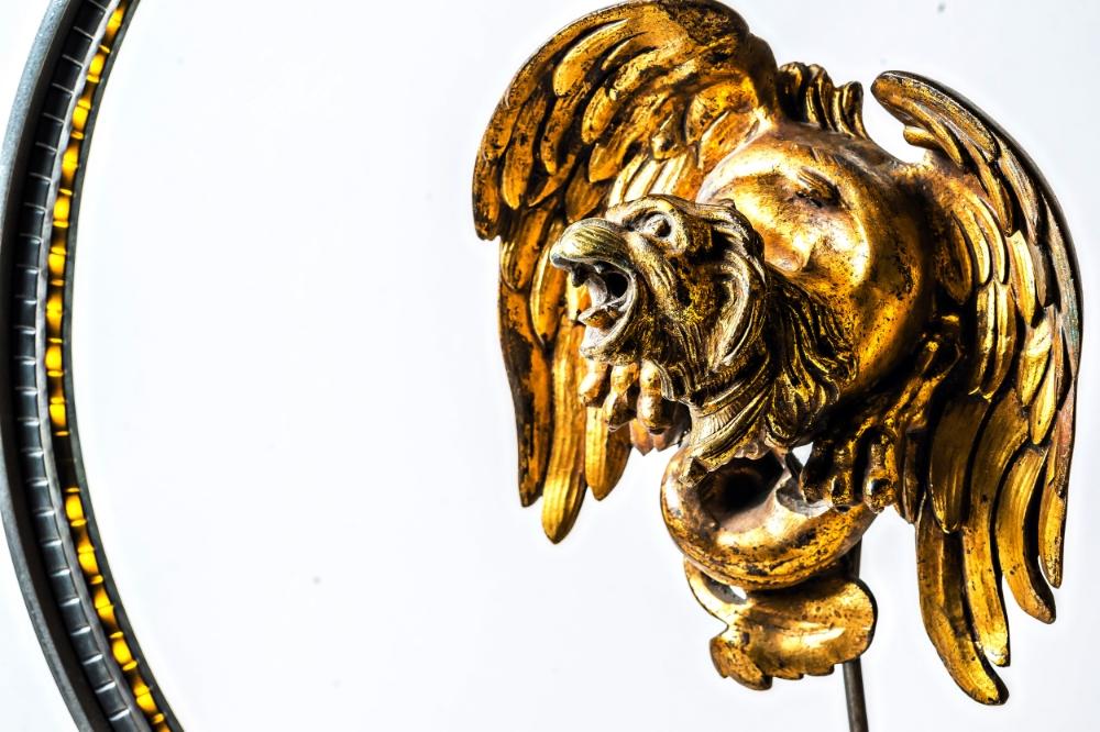 Antique Brass Griffin Converted LED Desk Lamp 01.jpg