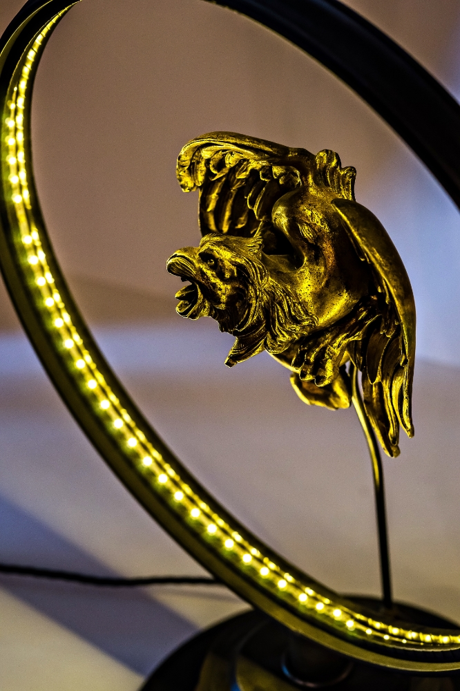 Antique Brass Griffin Converted LED Desk Lamp 05.jpg