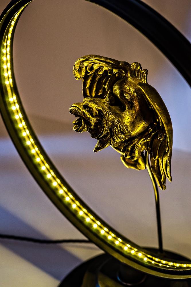 Antique Brass Griffin Converted LED Desk Lamp 05.jpg