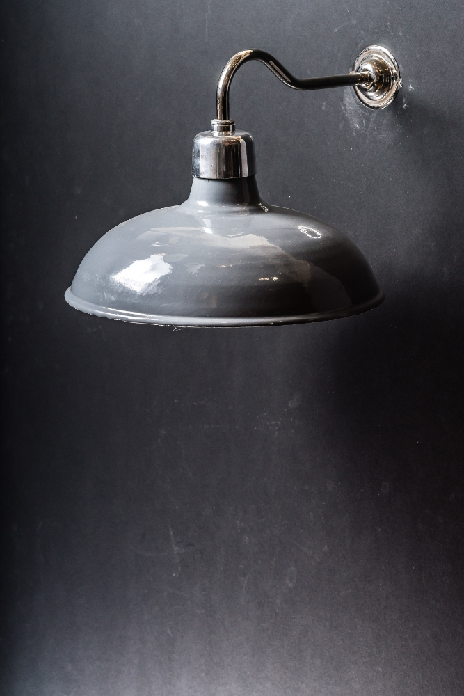 Grey Enamel Swan Neck Wall Light 01.jpg