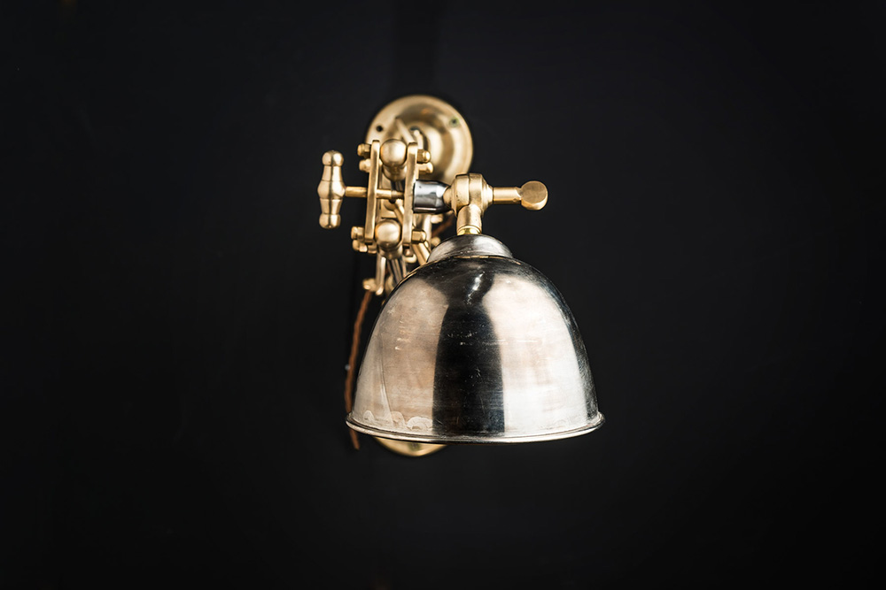 Steel and Brass Ratchet Wall Light 03.jpg