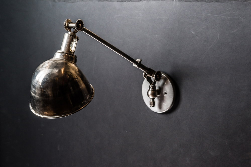 Brushed Steel Armed Wall Light 01.jpg