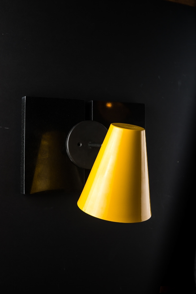 Armed Enamelled Conic Wall Light