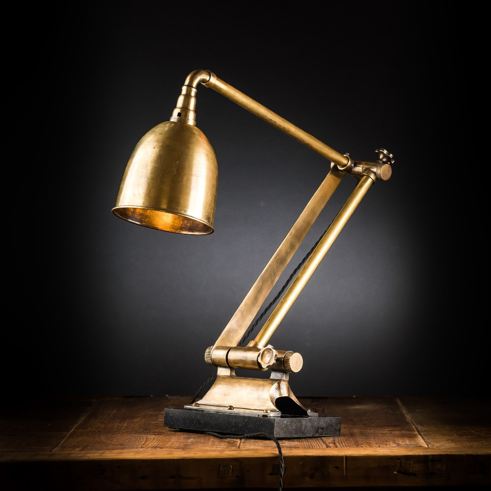 Vintage Articulated Brass Desk Lamp