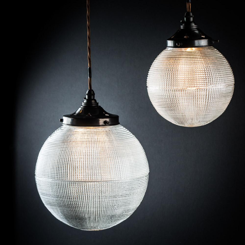 Vintage Holophane Glass Globe Pendant & Vintage Holophane Glass Globe Pendant u2014 Felix Lighting Specialists ...