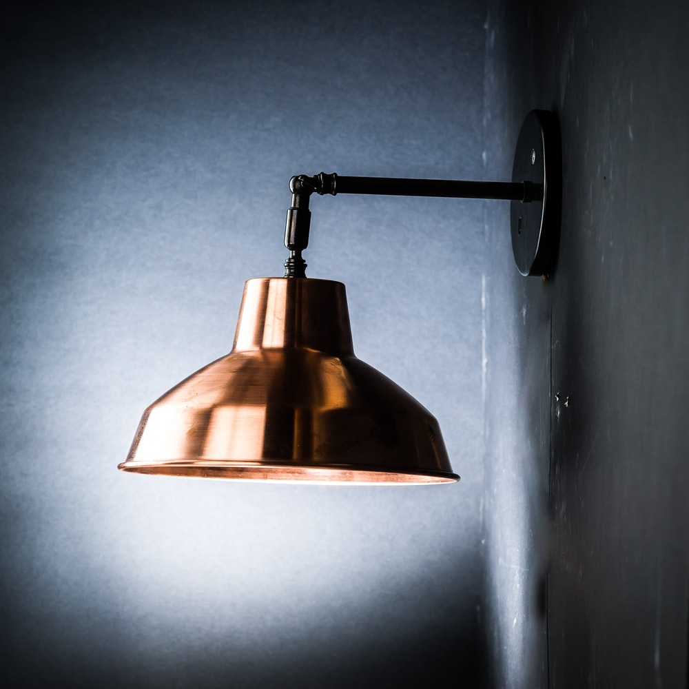 Spun Copper Armed Wall Light