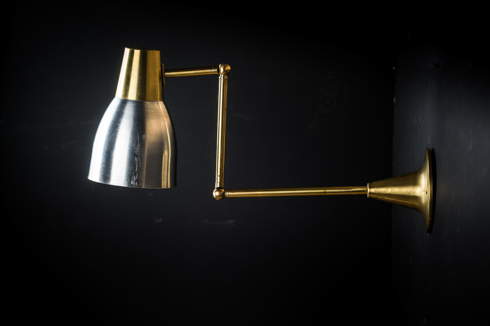 Brass & Aluminium Chart Wall Lights