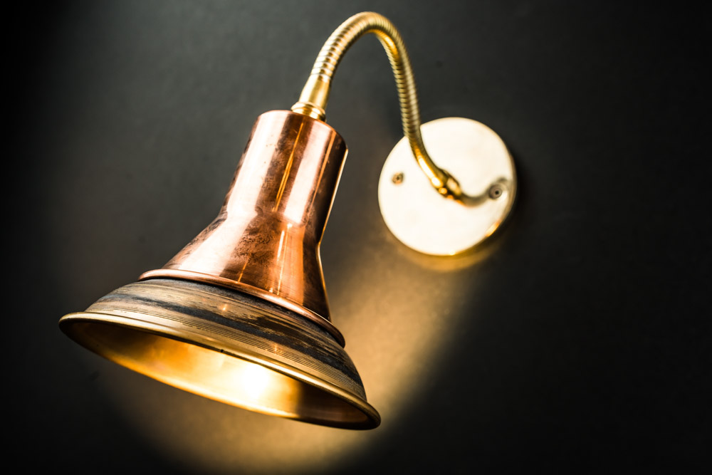 Adjustable Goose-neck Brass and Copper Wall Light