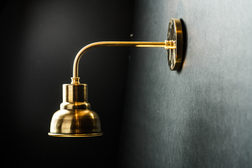 Spun and Solid Brass Wall Light