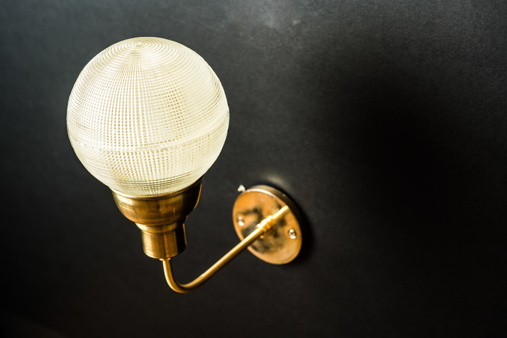 Vintage Holophane Glass and Brass Wall Light01.jpg