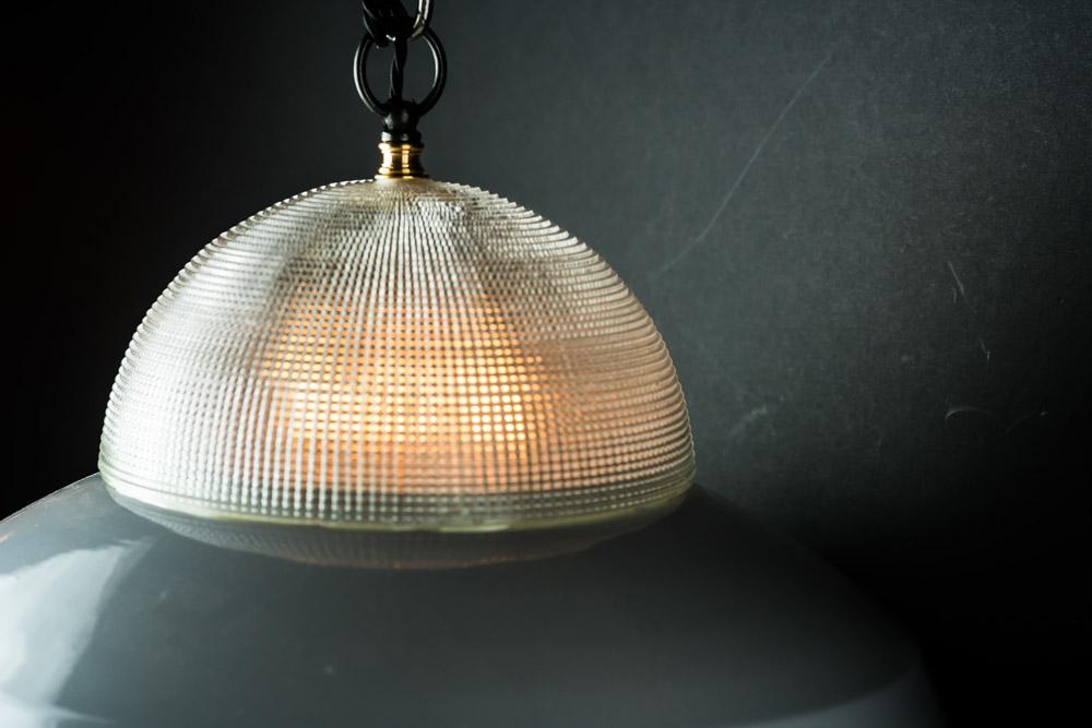 Vintage holophane and grey enamel pendant05.jpg