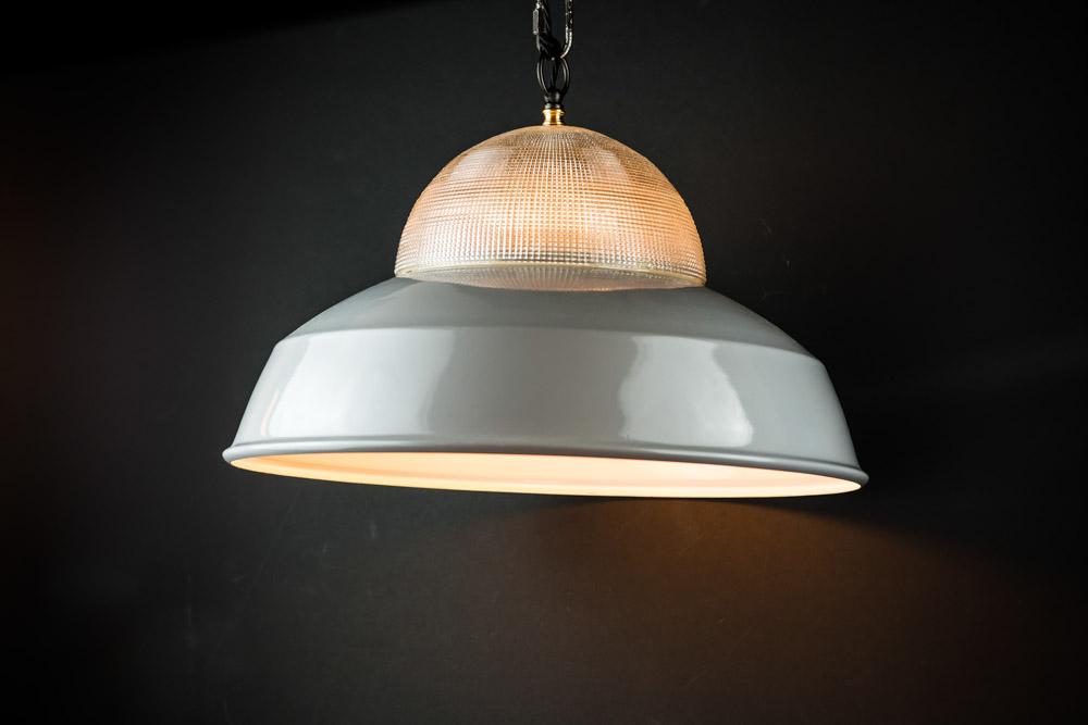 Vintage holophane and grey enamel pendant03.jpg