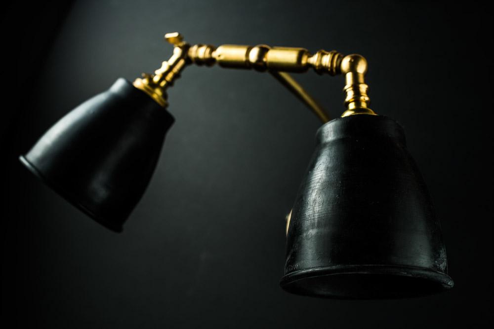 Felix Original brass and vulcan black stone wall lamp02.jpg