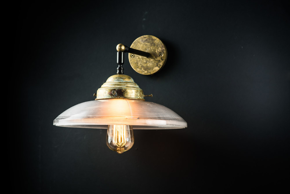 Vintage holophane and aged brass wall light03.jpg