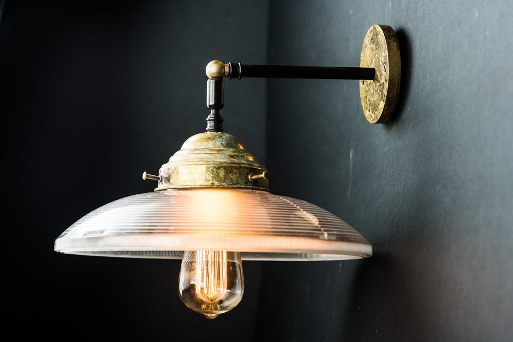 Vintage holophane and aged brass wall light05.jpg