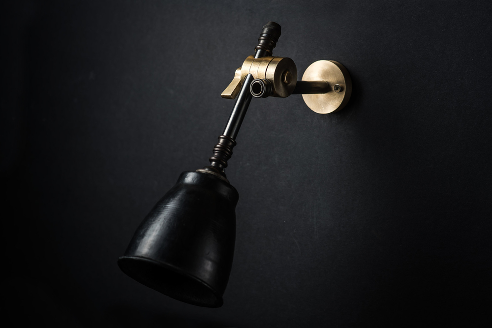 brass bronze and vulcan black stone adjustable wall light 02.jpg