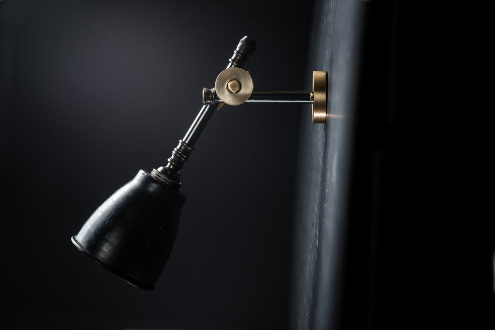 brass bronze and vulcan black stone adjustable wall light 06.jpg