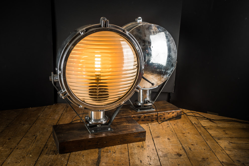 Vintage Prison Search Lights