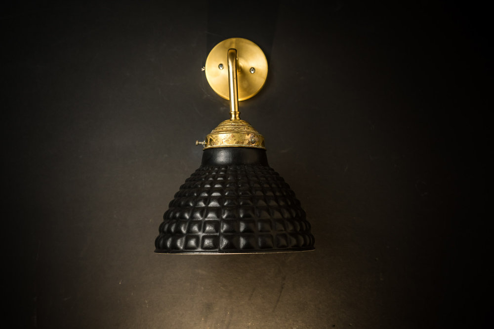 Felix Original Vulcan Black Stone Georay Wall Light.jpg