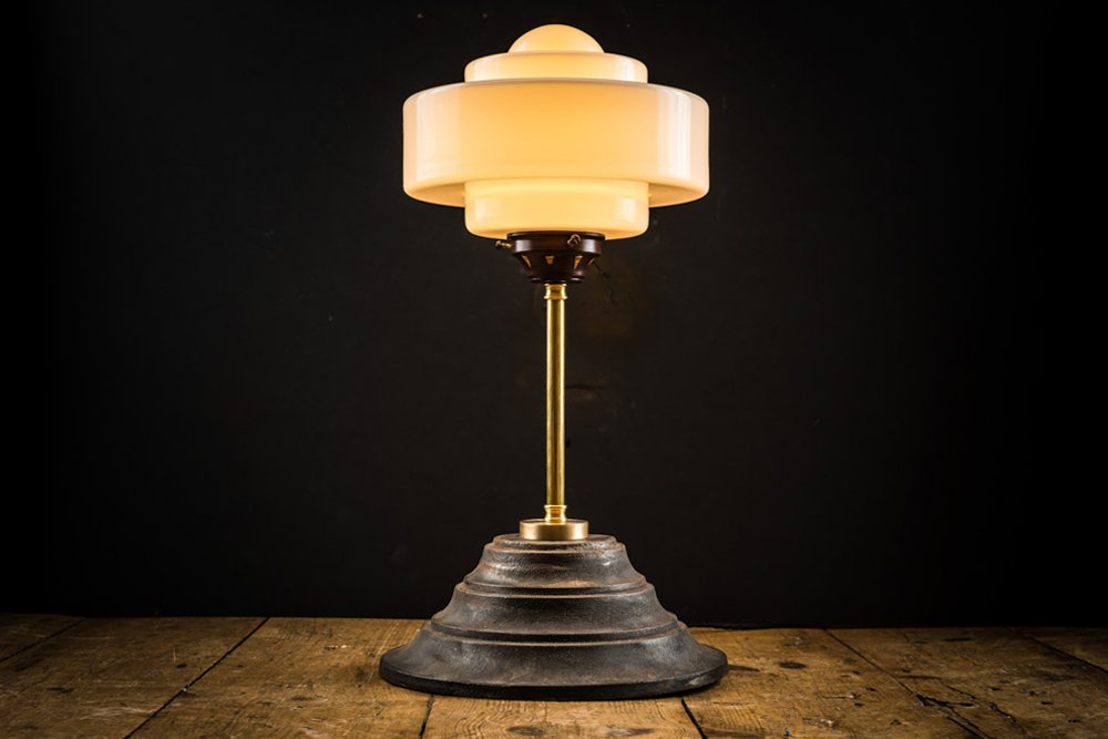 cast iron, brass and opaline glass lamp.jpg