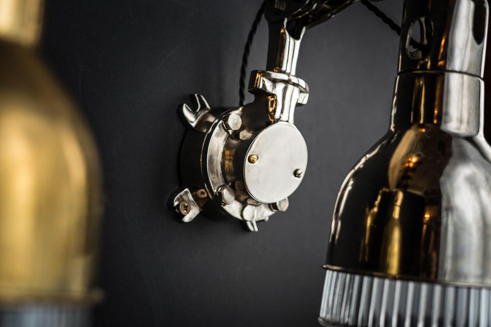 Vintage Mekelek Brass Or Nickel Glass Wall Light Felix