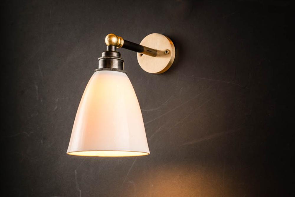 Felix Original Bone China, Brass and Bronze Armed Wall Light