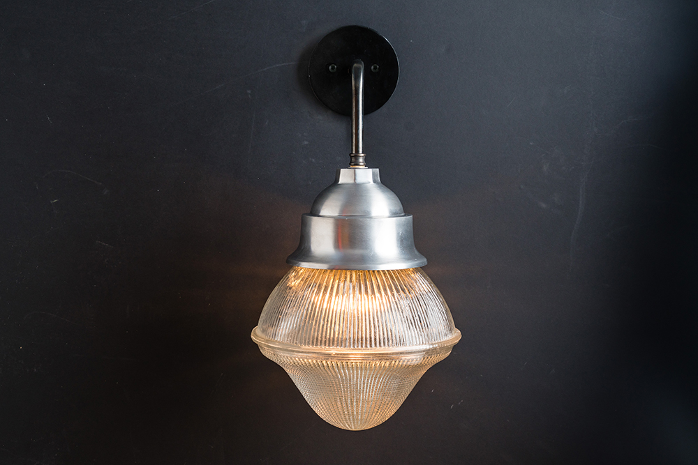 Holophane glass and steel wall light 03.jpg