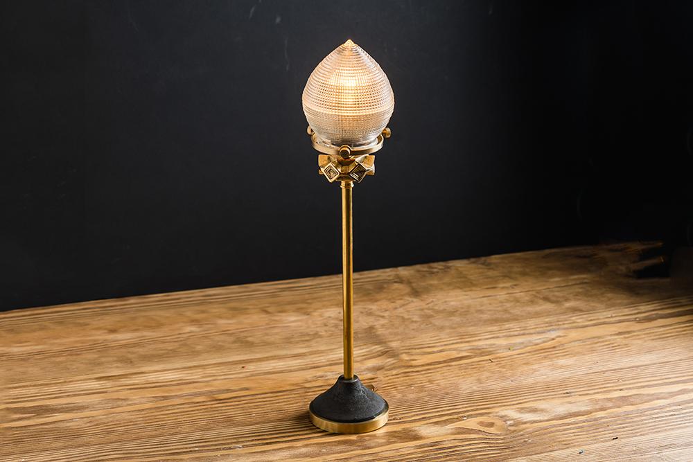 cast iron holophane glass and brass bartop lamp 02.jpg