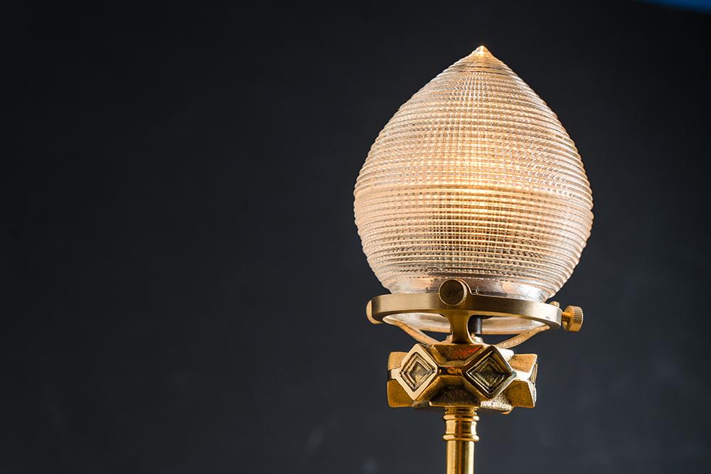 cast iron holophane glass and brass bartop lamp 03.jpg