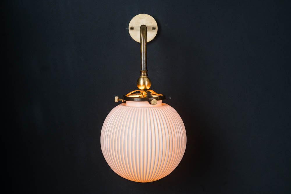 Ornate brass and bone china wall light .jpg