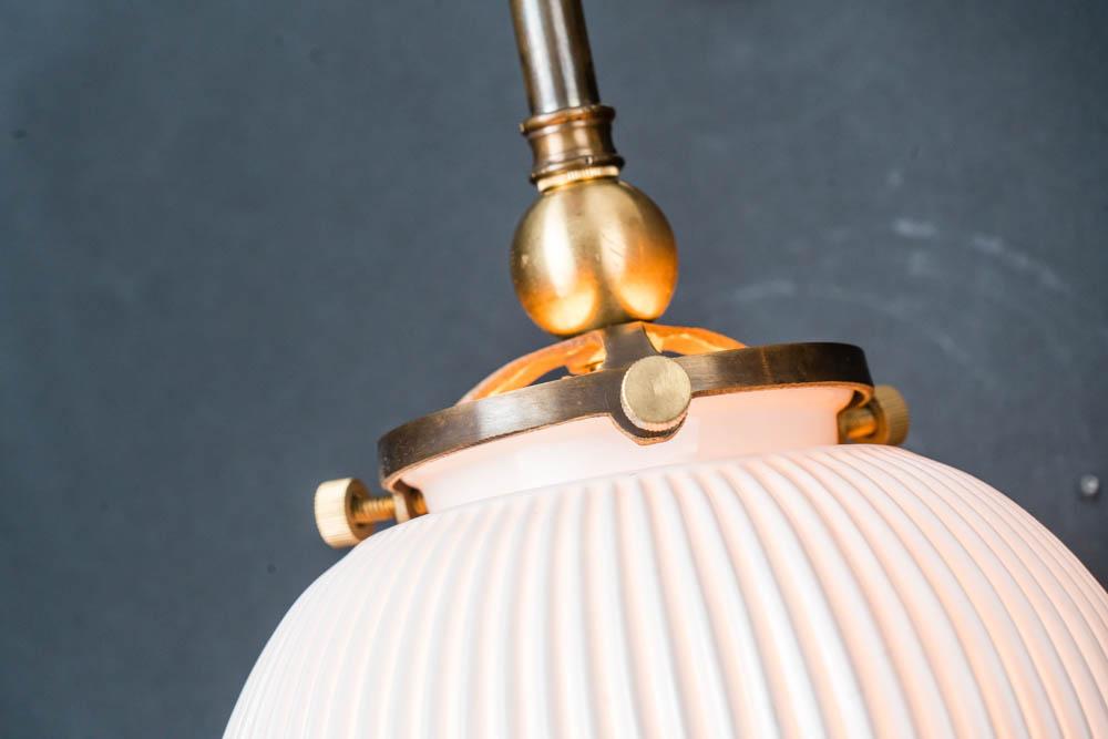 Ornate brass and bone china wall light 03.jpg