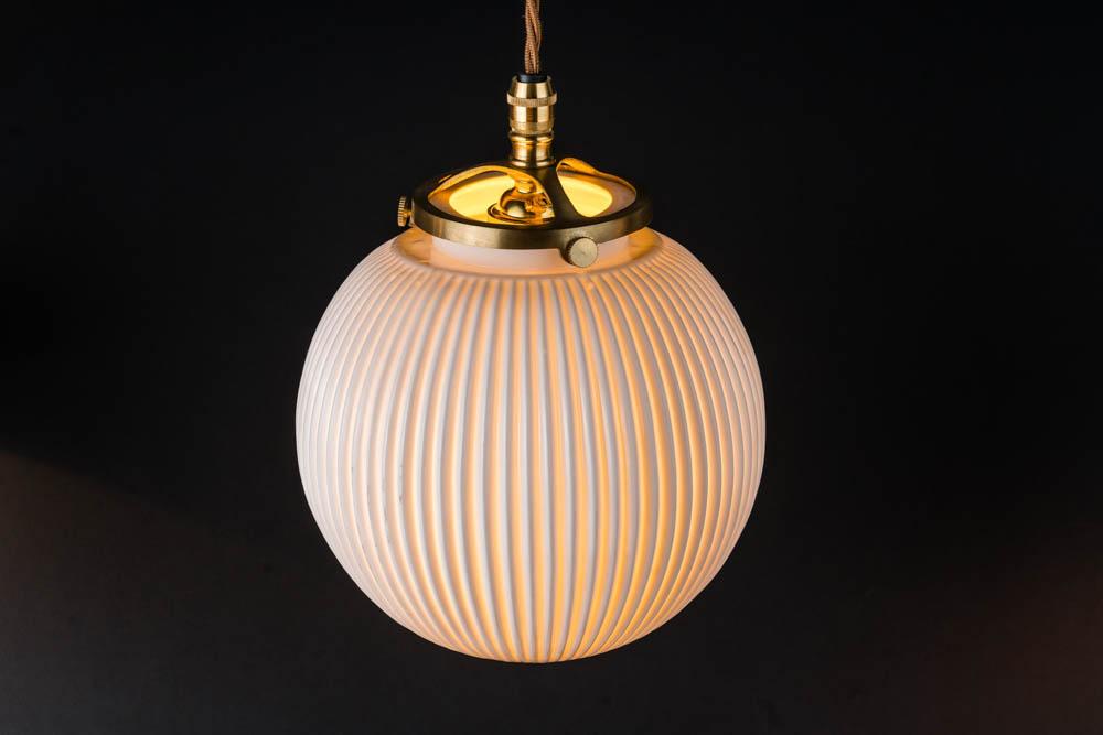 Reeded bone china and brass pendant 02.jpg