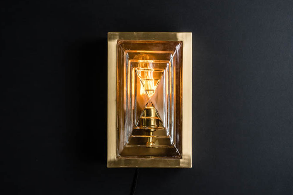 Rectangular brass and prismatic glass sconce.jpg