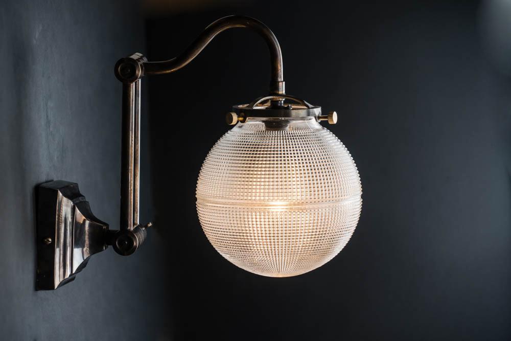 adjustable bronze and holophane globe wall light 01.jpg