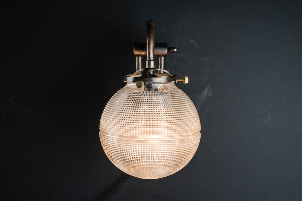 adjustable bronze and holophane globe wall light 03.jpg