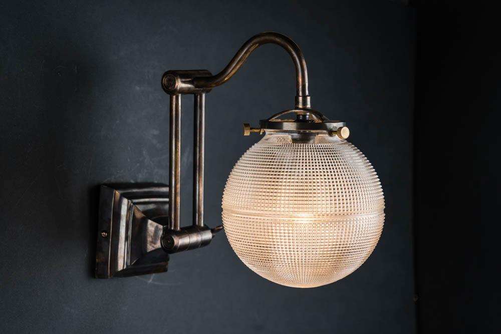 adjustable bronze and holophane globe wall light 04.jpg