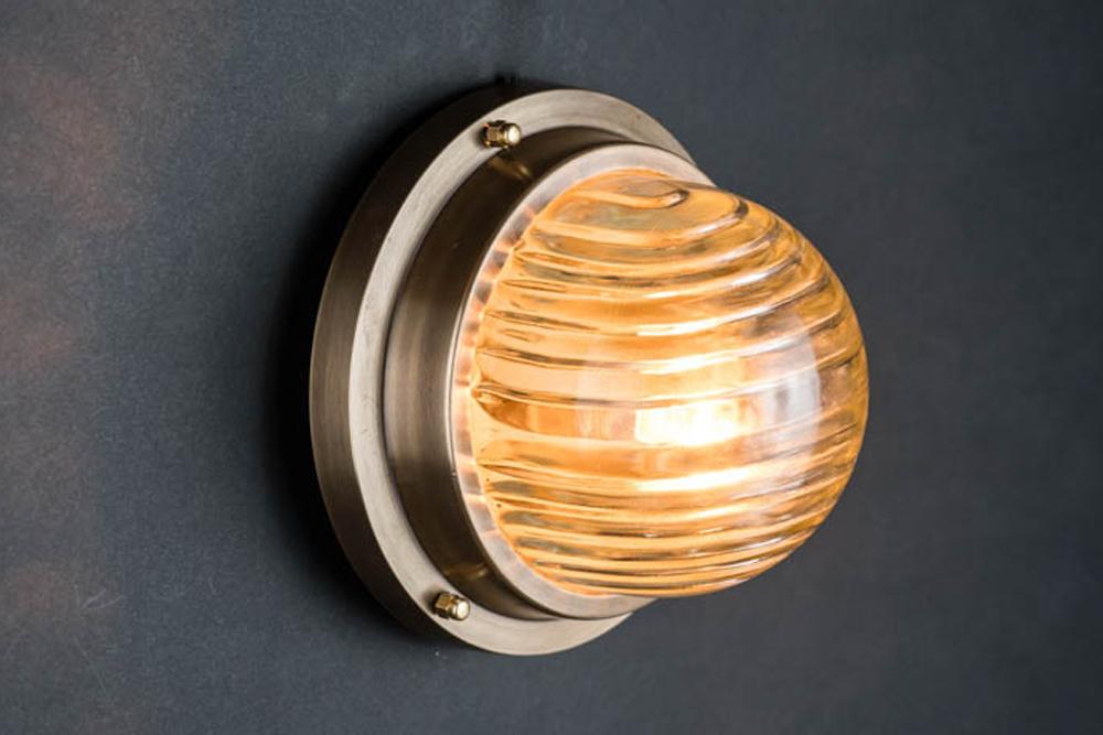 domed fresnel glass and brass passageway light 01.jpg