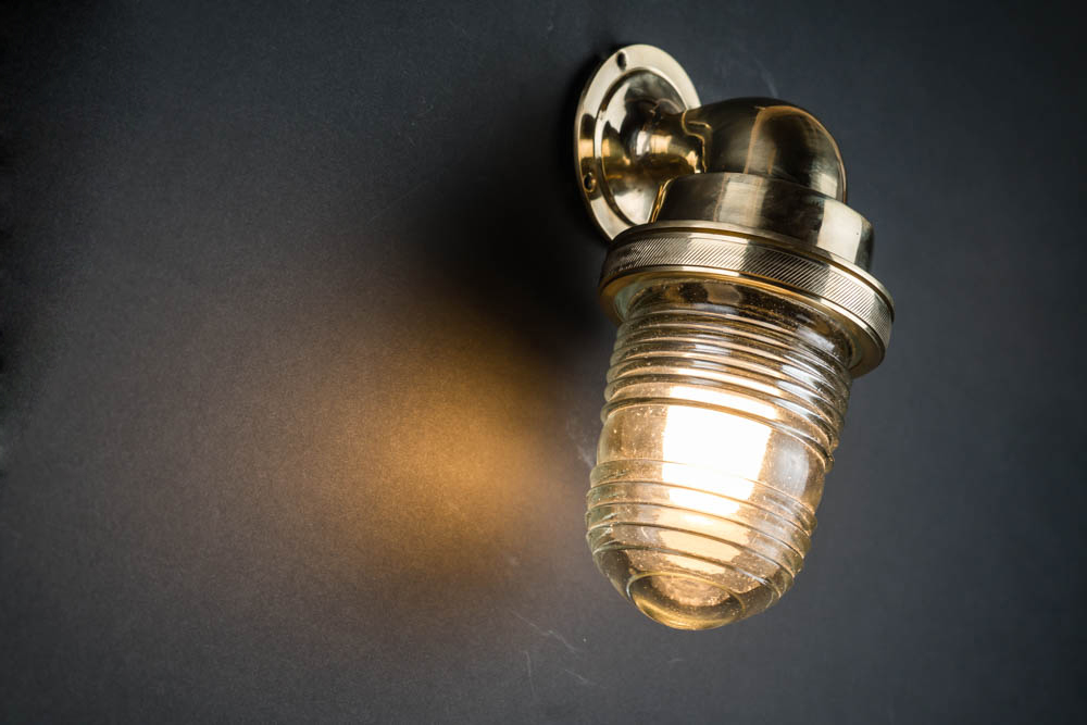 knurled brass and fresnel glass ships passageway light 02.jpg