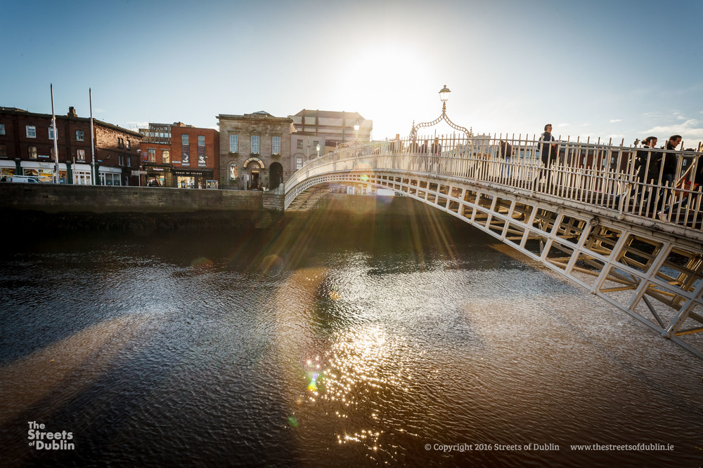 Sunlight on the hapenny bridge