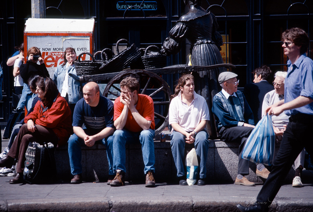 The Streets of Dublin Past, Part II - Sitting on the Molly Malone Statue