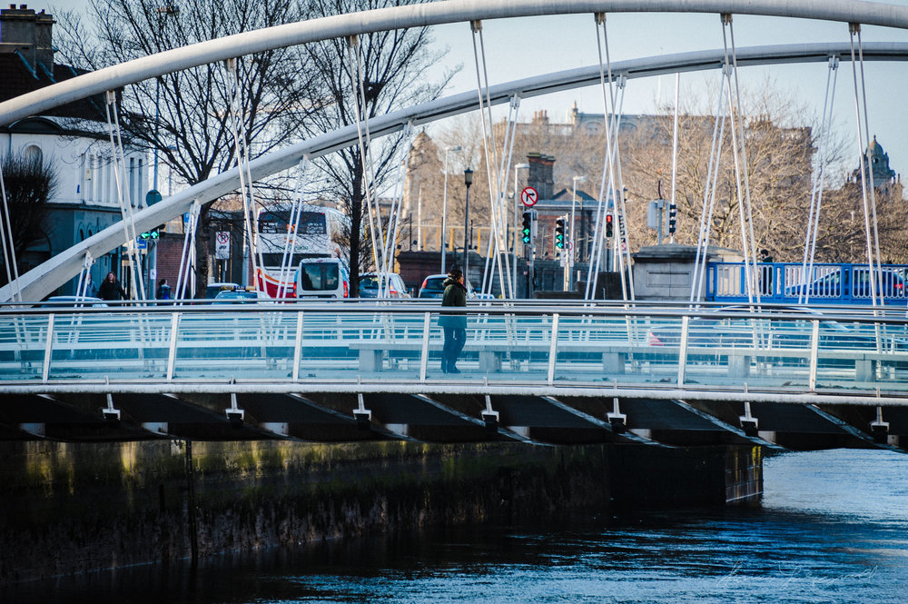 Bridge over the Liffey in Dublin