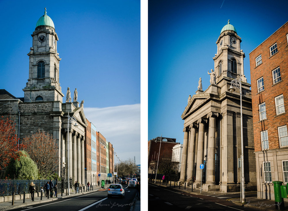 Church from Two Sides - A December Walk along the Liffey