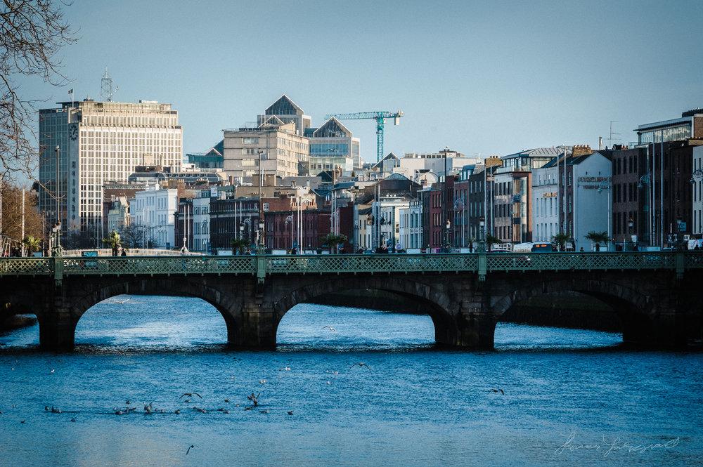 Dublin Bridges along the river Liffey