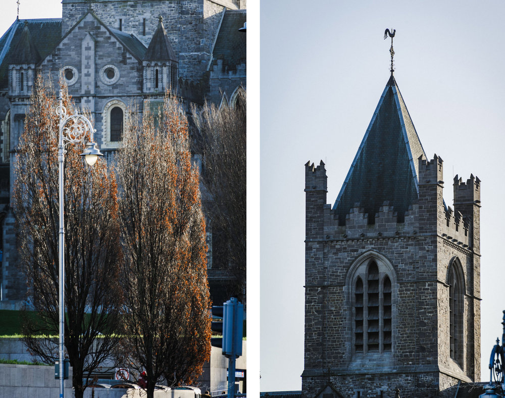Towers of Christchurch Cathedral in Dublin