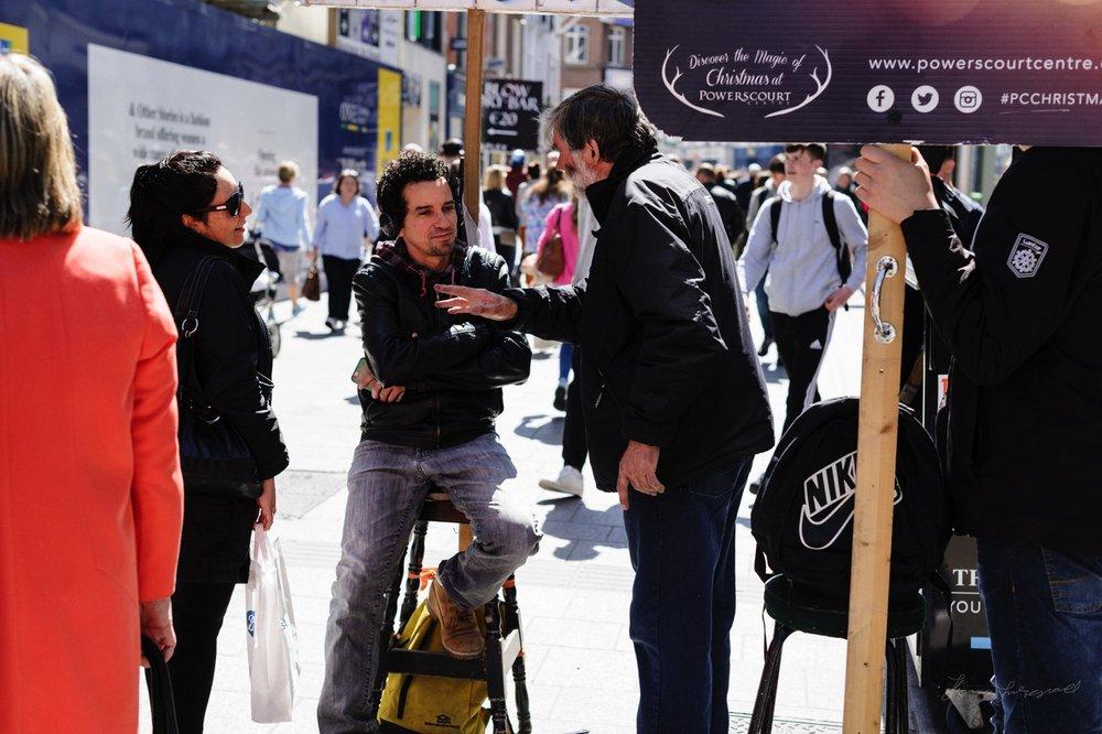 Sign Holders on Grafton Street